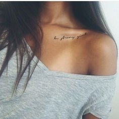 Shoulder clavicle tattoo