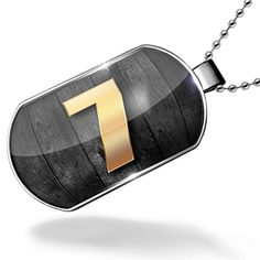 Dogtag 7 number, blackwood yellow Dog tags necklace - Neonblond by NEONBLOND -- Awesome products selected by Anna Churchill