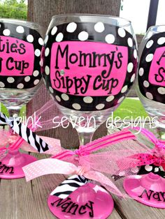 Mommy's Sippy Cup Wine Glass by pinksevendesigns on Etsy, $18.00
