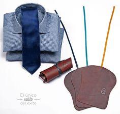 Utiliza el complemento perfecto de un traje, el cuero en tus accesorios favoritos.