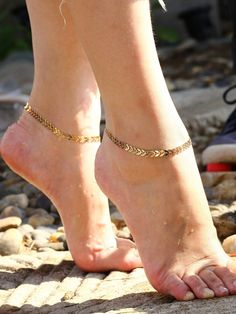 To find out about the Wheat Ears Design Anklet at SHEIN, part of our latest Body Jewelry ready to shop online today! Gold Anklet, Silver Anklets, Anklet Designs, Necklace Designs, Stylish Jewelry, Fashion Jewelry, Luxury Jewelry, Fashion Earrings, Ankle Jewelry