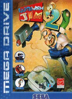 Earthworm Jim 2 - Sega Genesis Front Cover, 1995