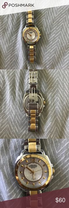 Coach Watch Silver and gold coach watch. Worn a few times before deciding I don't care for watches! Needs new battery. Coach Accessories Watches