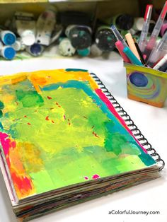 Trying out Jane Davenport's mermaid markers and more in my art journal -video by Carolyn Dube