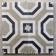 Adams cement tile from Villa Lagoon Tile, in stock now, order in your colors..