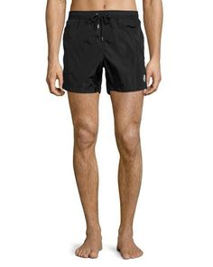 MONCLER NYLON SWIM SHORTS, BLACK. #moncler #cloth #