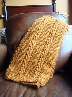 Crochet Blankets For Men Free knitting pattern for Shivaree Throw by Berroco Design Team afghan featuring a braided cable and double seed stitch Knitted Throw Patterns, Knitting Patterns Free Dog, Knitted Afghans, Afghan Patterns, Knitted Throws, Free Knitting, Crochet Patterns, Free Pattern, Knitting Yarn