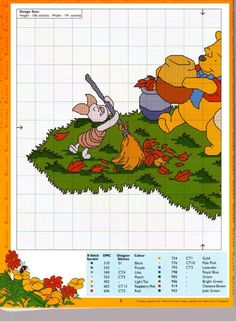 Pooh & Friends raking leaves 1 of 2