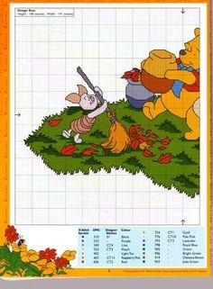 Pooh & Friends raking leaves 1 of 2