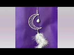Atrapasueños Luna - YouTube Dream Catcher Patterns, Dream Catcher Craft, Crochet Dreamcatcher, Crochet Mandala, Mobiles, Cardboard Costume, Jute Crafts, Diy Braids, Diy Canvas Art