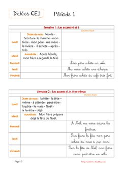Dictées CE1 French Teacher, Teaching French, School Organisation, French Worksheets, French Grammar, Outdoor Games For Kids, French Classroom, Spelling Activities, Spelling Words