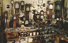 The British Clockmaker - Newfane, Vermont Mystic Seaport, Clock Shop, Go Game, Scary Art, Industrial Photography, Antique Clocks, British History, Dollhouse Furniture, Vermont
