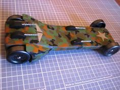 Military Pinewood Derby car