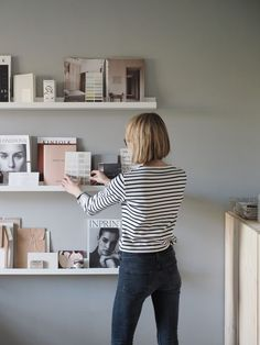 Gallery wall idea using IKEA picture ledges. A cosy, grey home office for a freelance creative - my makeover reveal Used Office Chairs, Home Office Chairs, Office Decor, Office Spaces, Ikea Picture Ledge, Gray Home Offices, Ikea Pictures, Cozy Office, Shop Interiors