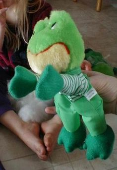 Transform old stuffed animals into puppets!