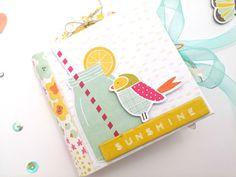 "Tutorial mini álbum ""Sunshine"" con 1 sola hoja"