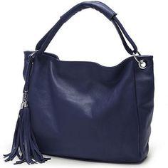Aliexpress.com  Comprar Nueva de cuero de la borla de las mujeres bolsos de  marca famosa de las señoras del partido de lujo bolso grande niñas bolsas  ... 0fc808ac2b