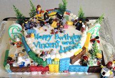 2-Layer LEGO construction cake