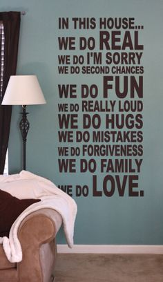 Great decor from this wall art company.  And great quote! :)