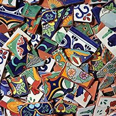 Mexican Tile - Broken Mexican Talavera Tiles - Decorative - this will be one of my first adventures once I'm retired to AZ Mosaic Crafts, Mosaic Projects, Mosaic Art, Mosaic Glass, Mosaic Tiles, Glass Art, Stained Glass, Sea Glass, Diy Tiles