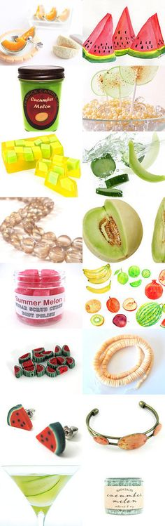 Fresh Melon by AstroBibliophilic on Etsy--Pinned with TreasuryPin.com