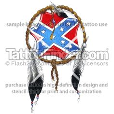American Southern Flag Tattoos | TattooFinder.com : Southern Tribes tattoo design by Gentleman Jim
