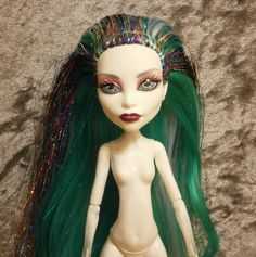 Rerooted monster high spectra doll by moonsight68 on Etsy, $40.00