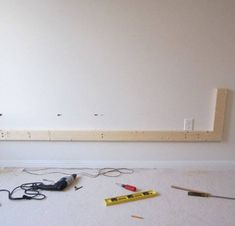 Want to make your bachelor pad look better? Learn how to build a floating wall TV stand in this DIY interior design guide. Floating Tv Stand, Floating Wall, Tv Wall Decor, Game Room Decor, Tv Shelving, Tv Shelf, Tv Wall Panel, Wall Tv Stand, Tv Wanddekor