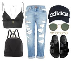 approach by melanie-pacheco on Polyvore featuring moda, T By Alexander Wang, Genetic Denim, American Rag Cie, Poverty Flats, Ana Khouri, Ray-Ban and adidas