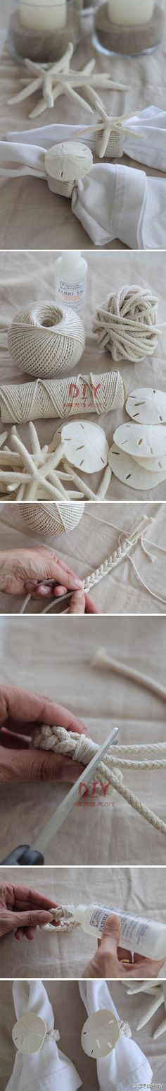 DIY ~ Sand Dollar Napkin Holders