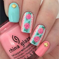Spring is all about the flowers starting to bloom that is why spring nail designs 2020 are all about floral patterns. Adorn your season nails with the image of your favorite flowers and meet the spring in full armor! Shellac Nails, Stiletto Nails, Nail Polish Designs, Nail Art Designs, Nails Design, Cute Nails, Pretty Nails, Les Nails, Floral Nail Art