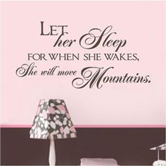 LET HER SLEEP Nursery Decal