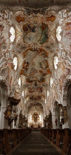 baroque church in Rottenbuch, Germany