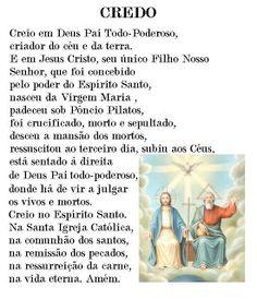 oração do credo creio em deus pai todo poderoso