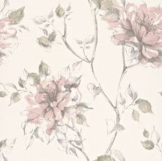 Blomstret tapet - Køb tapeter med blomster online her Tiny Bird, Colorful Wallpaper, Wallpaper Ideas, Surface Pattern, Retro, Accent Decor, Paint Colors, Clip Art, Boutique
