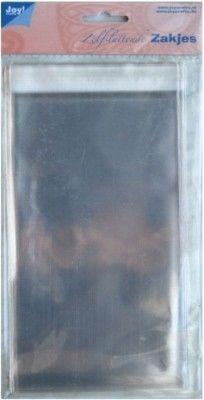 8001/0311- 30 x zelfsluitende kaartenzakjes met plakstrip 11x23cm