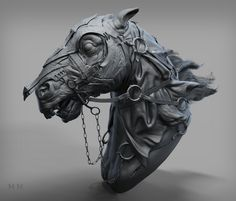 the nazgul horse, Han 419580826@qq.com on ArtStation at http://www.artstation.com/artwork/the-nazgul-horse