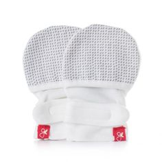 GoumiKids GuavaMitts in Grey Drops | Ingenious Mittens That Stay on Babies Hands!