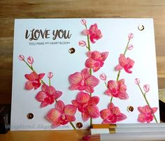 #altenew Oriental Orchid stamp set,#primamarketing watercolor pencils #thedailymarker30day2 #ssswchallenge http://thoughtsinlc.blogspot.com/2016/02/oriental-orchid-new-store-ranganjali.html