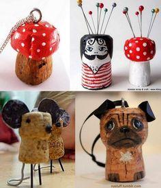 Wine Craft, Wine Cork Crafts, Bottle Cap Crafts, Christmas Garden Decorations, Christmas Diy, Fun Crafts, Christmas Crafts, Crafts For Kids, Bastelarbeit Winter