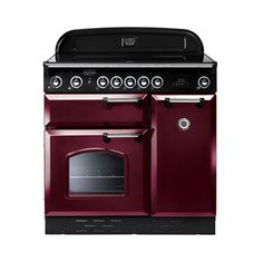 Rangemaster 84850 Classic 90cm in Cranberry & Chrome. Call 01302 638805 for prices.