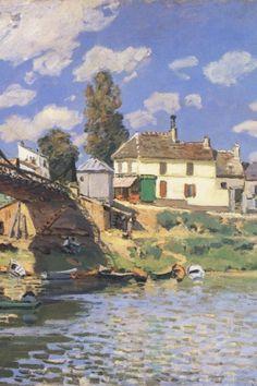 Sisley - Bridge at Villeneuve-la-Garenne 1872