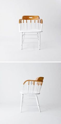 decoratieve dip dye's - Home deco - Chair Design Painted Chairs, Painted Furniture, Kitchen Chairs Painted, Dipped Furniture, Painted Tables, Distressed Furniture, Furniture Makeover, Diy Furniture, Vintage Furniture