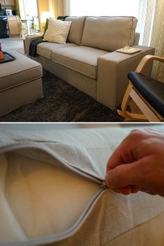 This IKEA KIVIK Sofa Is Not Only Comfortable But Easy To Clean, With Its  Removable Machine Washable Cover U2013 Perfect For The IKEA Home Tour Squadu0027s  ...