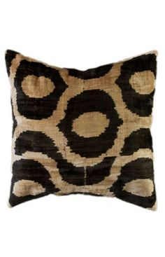 Rugs USA Ikat Decorative Pillow Black. I'm such a pillow wh*re! Always buying new pillows, so fun to switch pillows around.
