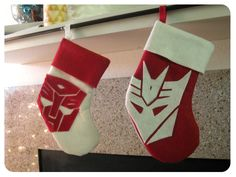 Transformers Stockings. Yes.