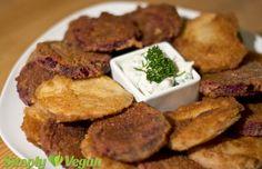 Gemüse-Schnitzelchen mit Kräuterquark | vegane Rezepte in Hauptgerichte