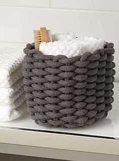Exclusively from Simons Maison The perfect accessory for organizing small items in the bathroom Round shape made with wide and supple braided cords Rope Basket, Basket Weaving, Bathroom Shower Curtains, Fabric Shower Curtains, Cushions Online, Dream Furniture, Macrame Projects, Crochet Home, Bathroom Inspiration