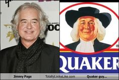 Jimmy Page Totally Looks Like Quaker Oates Guy