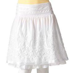 i just love white skirts